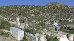 Delos theater ruins Stock Footage