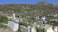 Stock Video Footage of  Delos theater ruins