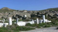 Delos  ruins Stock Footage