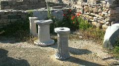 Delos courtyard Stock Footage