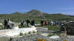 Tourists Delos Stock Footage