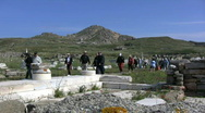 Stock Video Footage of Tourists Delos