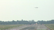 Stock Video Footage of Plane landing at international airport