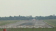 Stock Video Footage of Plane starting from international airport