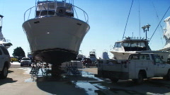 Boat lot yachts Stock Footage