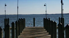 Dock walk out 3 Stock Footage