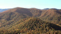 flythrough NC mountains fall2 - stock footage