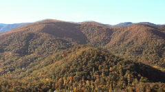 Flythrough NC mountains fall2 Stock Footage