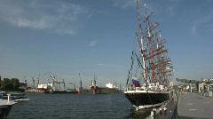 Russian tall ship Sedov Stock Footage