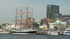 Passing the tall ship Sedov Stock Footage