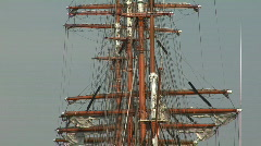 Tall ship zoom out Stock Footage