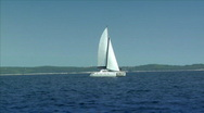 Stock Video Footage of catamaran boat to boat