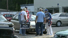 McCain Supporters -02 Stock Footage