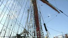 Tall ship mast tilt up Stock Footage