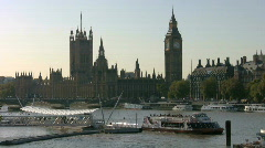 Big Ben clock tower and the Houses of Parliament London England Stock Footage