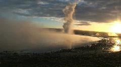 Iceland geyser Stock Footage
