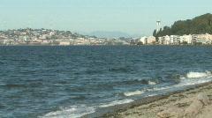 Alkai Beach in Seattle Washington Stock Footage