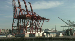 Shipping port in Seattle Washington Stock Footage