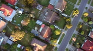 Residential aerial 3 Stock Footage