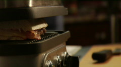 grilling a panini sandwich  - stock footage