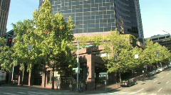 Columbia Center Skyview in Seattle Stock Footage