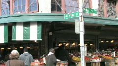 Pike Place Fish Market in Seattle - stock footage
