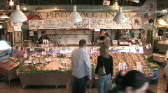Inside Pike Place Market in Seattle Stock Footage
