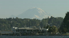 Mount Rainier Seattle - stock footage