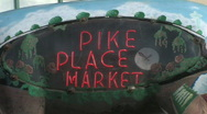 Pike Place Fish Market in Seattle Stock Footage