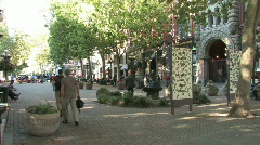 Pioneer Square in Seattle Stock Footage