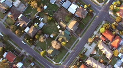 Residential aerial 4 - stock footage