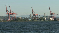 Seattle Shipping Port on the Water Stock Footage