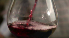 Pouring red wine Stock Footage