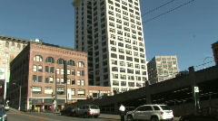 Smith Tower in Seattle, Washington Stock Footage