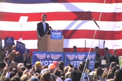 Obama On McCain & The Economy - stock footage
