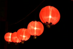 chinese lanterns celebrating chinese new year - stock footage