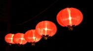 Chinese lanterns celebrating chinese new year Stock Footage