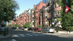 Boston Back Bay Homes Stock Footage
