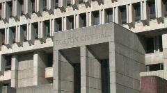Boston Massachusetts Government Center Stock Footage