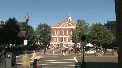 Government Center in Boston Stock Footage