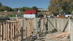 Basement walls construction 2 M HD Stock Footage