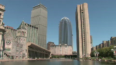 Boston Prudential Center Buildings Stock Footage