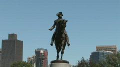 Boston Public Gardents statue Stock Footage
