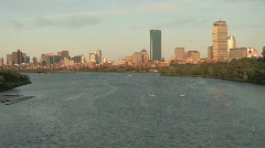 Boston Massachusetts City Skyline - stock footage