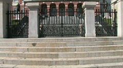 Boston State House pan up Stock Footage