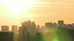 Boston Skyline Sunrise Stock Footage