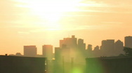 Boston Skyline Sunrise Stock Footage