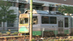 Boston T Transportation Metro Stock Footage
