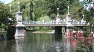 Stock Video Footage of Boston Public Gardens Swan Boats