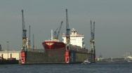 Stock Video Footage of Hamburg swimming docks